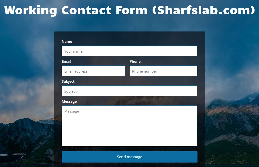 How to make Working HTML-PHP Contact Form