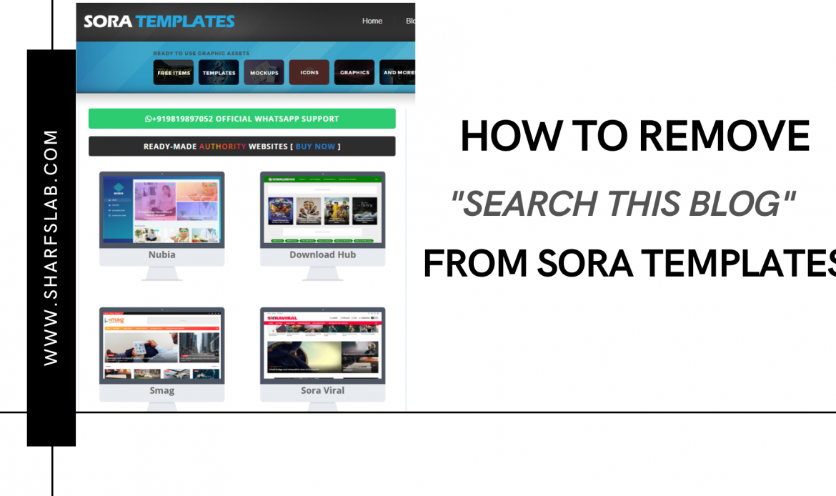 How to Remove Search this Blog from SORA Templates