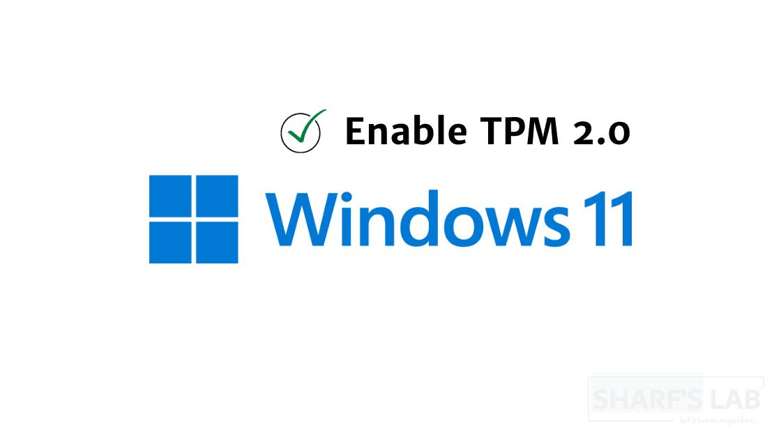 Enable TPM 2.0 via BIOS