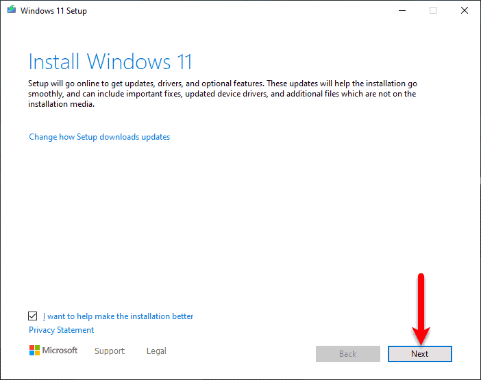 Windows 11 Installation Wizard